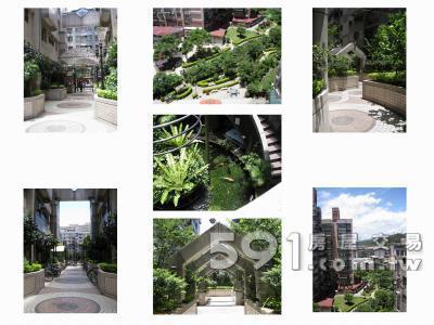 社區環境:中庭綠蔭盎然附近公園綠地豐